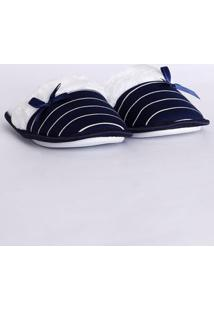 Pantufa Feminina Azul Marinho