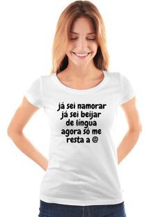 Camiseta Skull Lab Já Sei Namorar