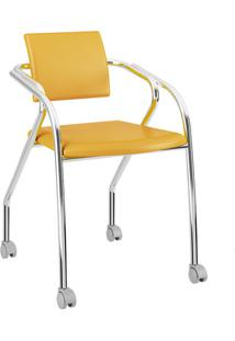 Cadeira Jersey Carraro Amarelo Ouro