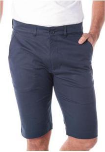 Bermuda Traymon Sarja Chino Slim Masculina - Masculino-Marinho