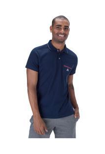 Camisa Polo Fatal Estampada 22268 - Masculina - Azul Escuro