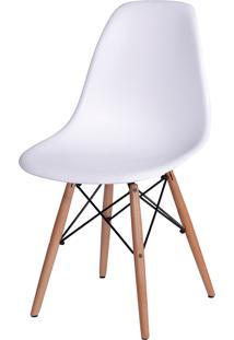 Cadeira Dkr Polipropileno E Base De Madeira Lawang – Branca