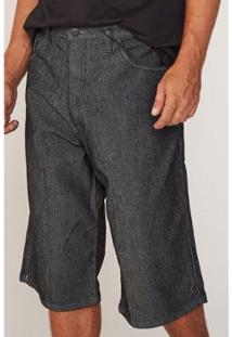 Bermuda Hd Plus Size Jeans Masculino - Masculino-Preto