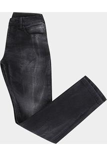 Calça Jeans Slim Juvenil Hd Slim Dusky Masculina - Unissex-Preto