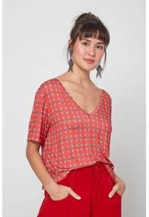 Camiseta Oh, Boy! T-Shirt Est Red Bird Feminina - Feminino-Vermelho