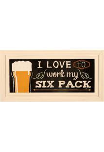Quadro Decorativo De Parede Com Moldura Love Beer