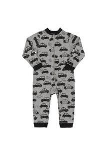 Macacão Pijama Estampado Up Baby Cinza