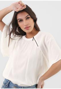 Camiseta Forum Zíper Off-White