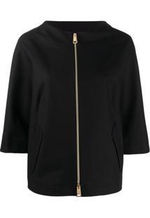 Herno Zip-Through Boxy Jacket - Preto