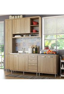 Cozinha Compacta Sicília 8 Portas Para Pia Com Balcão Argila - Multimóveis