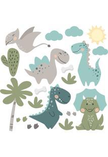 Adesivo De Parede Dinossauros Jurassic Baby - Tricae