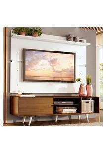Rack Madesa Dubai E Painel Para Tv Até 65 Polegadas Com Pés - Rustic/Branco 5Z09 Marrom