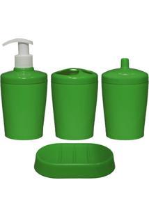 Kit Para Banheiro Ravi 4 Peças Verde