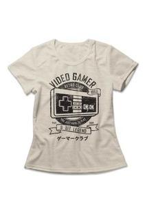 Camiseta Feminina Gamer Retrô Club Bege