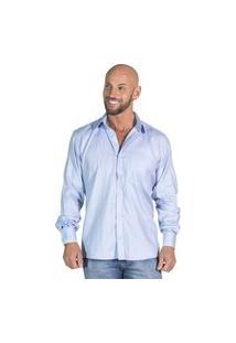 Camisa Social Giane Di Paollo Romero Azul Claro