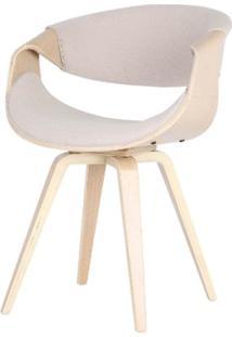 Cadeira Nicole Tecido Linho Cor Cru - 31700 - Sun House