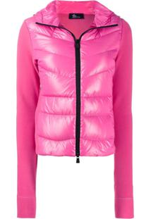 Moncler Grenoble Padded Maglia Jacket - Rosa