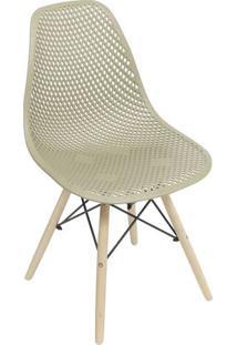 Cadeira Eames Colmeia- Fendi & Madeira Clara- 82,5X4Or Design