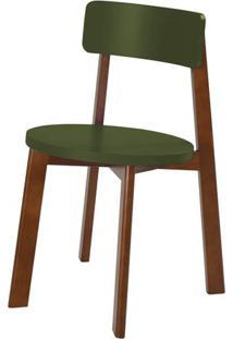 Cadeira Lina Cor Cacau Com Verde Escuro - 31542 - Sun House