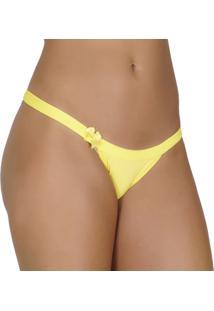 Calcinha Click Chique String Sem Regulagem - Feminino-Amarelo