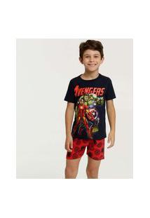 Pijama Infantil Brinde Estampa Vingadores Marvel