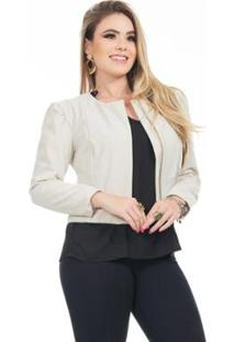 Casaco Clara Arruda Princesa Feminina - Feminino-Gelo