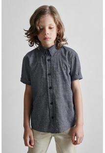 Camisa Masculina Infantil Mini Pf Croacia Mc Reserva Mini - Masculino-Preto