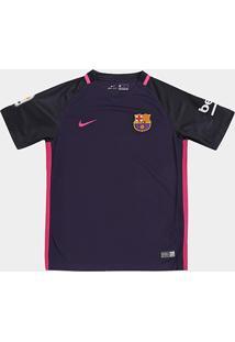 Camisa Barcelona Infantil Away 16/17 S/Nº Torcedor Nike - Masculino