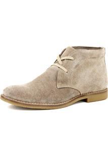 Botina Luxury Desert Boots Estilo Chelsea Sir.W Em Couro Camurça 503.