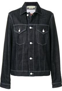 Marni Jaqueta Jeans Com Estampa Rabbit - Azul
