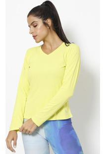 Camiseta Lisa Com Repelente- Verde Neonlupo