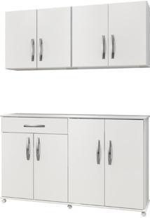 Cozinha Conjugada 3 Peças Delta Arte Móveis -Branco