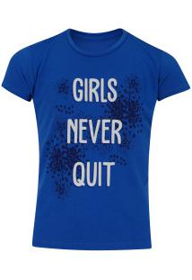 Camiseta Oxer Girls Feminina - Infantil - Azul