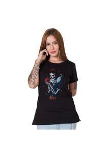 Camiseta Stoned Dead Snow White Preto