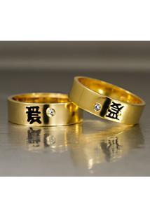 Aliança De Ouro Amor Eterno - As0147
