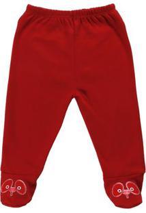 Calça Infantil Para Bebê Menino - Vermelho