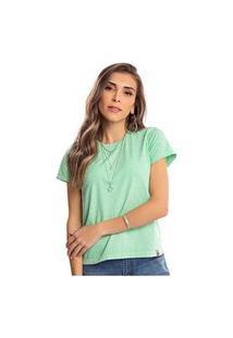 Camiseta Feminina Estonada Malha Premium Lemon - Area Verde