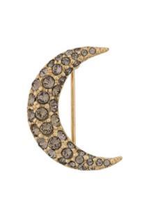 Isabel Marant Broche Com Lua Crescente - Dourado
