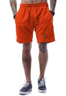 Bermuda Tactel Neon Cellos Dress Up Premium - Masculino-Laranja