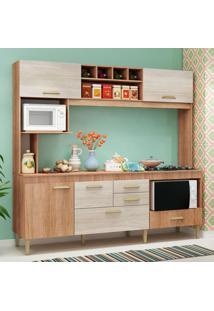 Cozinha Compacta Fênix Com Tampo 5 Pt 3 Gv Carvalho E Bege