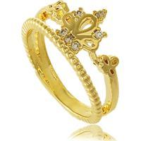 93b83abe55c Anel De Falange Dois Fios Coroa Com Zircônia 3Rs Semijoias Dourado
