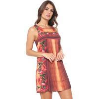 9d79ef6751 Dafiti. Vestido Lez A Lez Curto Floral Laranja