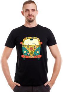 Camiseta Geek10 Hipster Kombi Preta