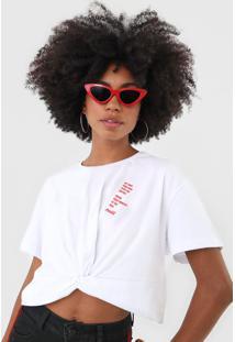 Camiseta Coca-Cola Jeans Lettering Torã§Ã£O Branca - Branco - Feminino - Algodã£O - Dafiti