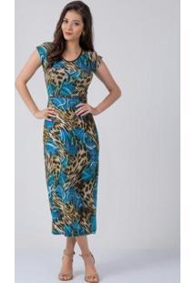 Vestido Longuete Animal Print