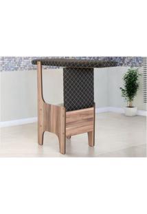 Cadeira Que Vira Tábua De Passar Roupa Preto - Mp Decor