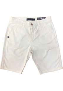 Bermuda John John Sarja Masculina Off White - Multicolorido/Off-White - Masculino - Dafiti