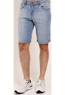 Bermuda Jeans Estonada Vilejack Masculina Azul
