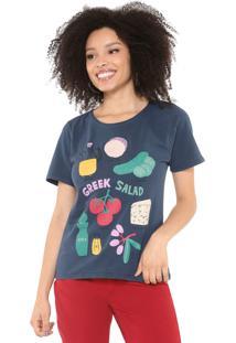 Camiseta Cantão Salada Grega Azul-Marinho