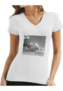Camiseta Fernanda Almeida Toujour Paris - Feminino-Branco